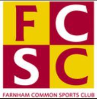 logo for Farnham Common Squash Club