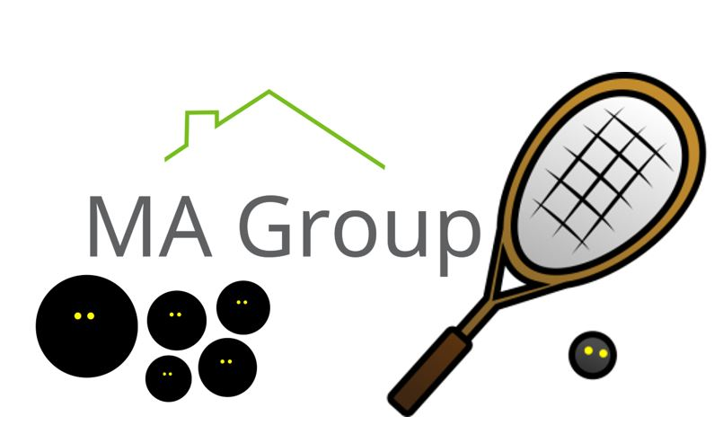 logo for MA Group Squash Club